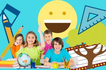 Illustration zum Thema Schule und Freundlichkeit