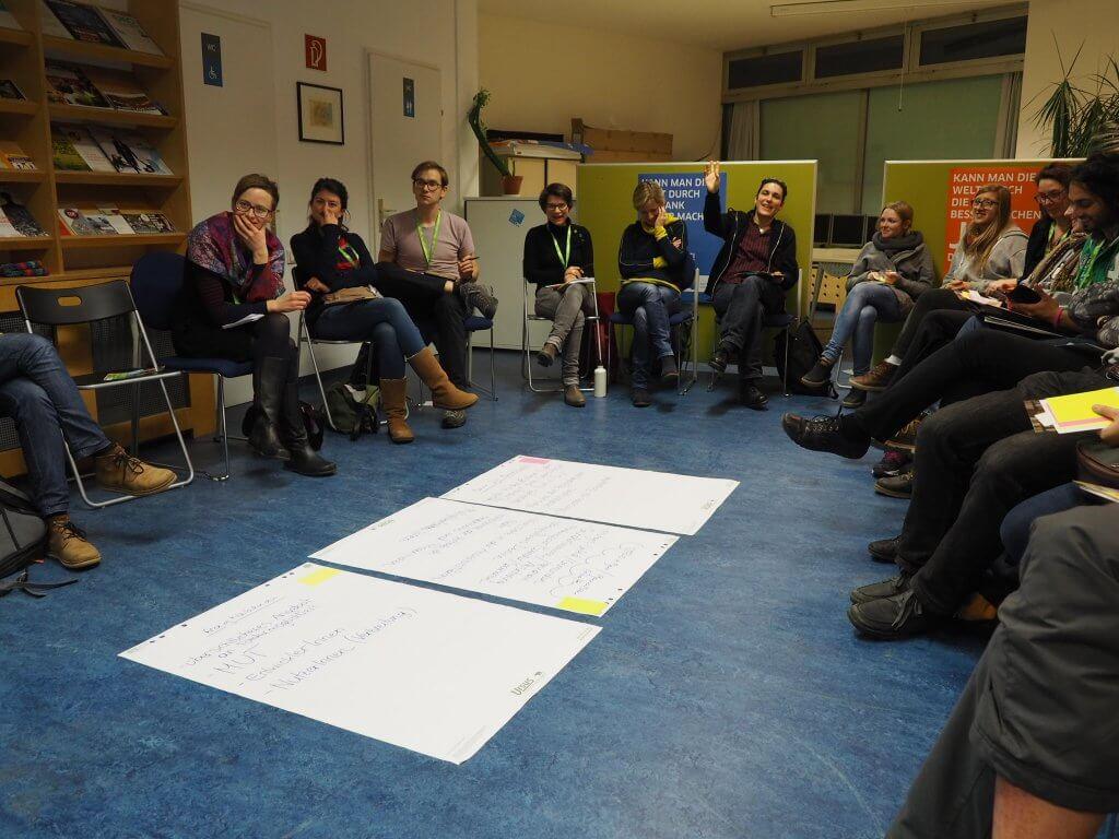 Ideen sammeln im Projekt Bank für Gemeinwohl