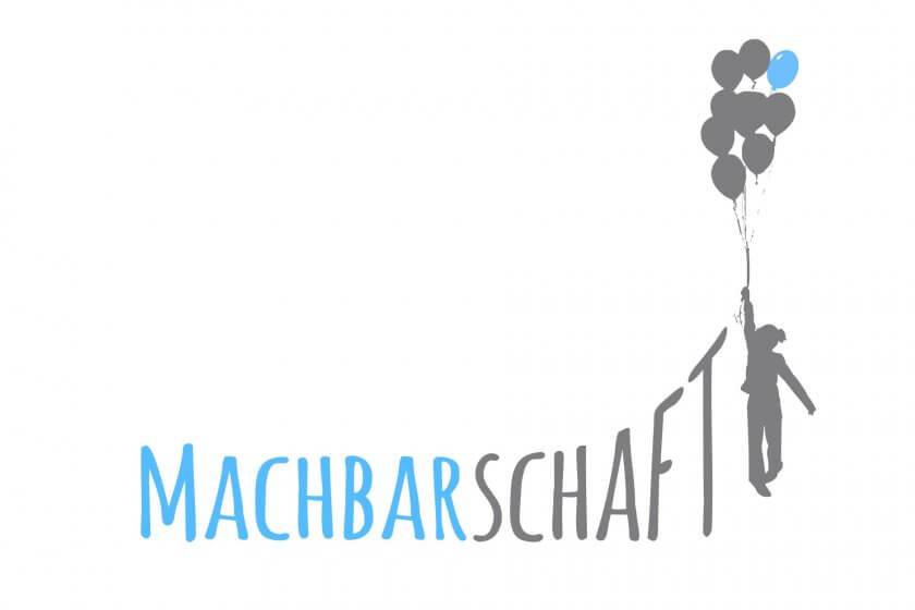 Logo der Machbarschaft mit Balloons