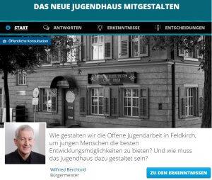 Online-Beteiligung im Jugendhaus Feldkirch 1001