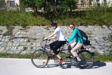 Bild mit Radfahrern auf einer Biketour